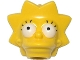 Part No: 15524pb02  Name: Minifigure, Head Modified Simpsons Lisa Simpson - Wide Eyes Pattern