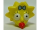 Part No: 15525pb01  Name: Minifigure, Head Modified Simpsons Maggie Simpson - Wide Eyes