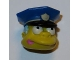 Part No: 15661c01pb02  Name: Minifigure, Head Modified Simpsons Chief Wiggum with Pink Doughnut Frosting Splotch on Mouth Pattern