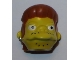 Part No: 15666pb01  Name: Minifigure, Head Modified Simpsons Snake Pattern