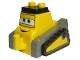 Part No: 17839pb01  Name: Duplo Bulldozer Body, Small with Disney Planes Drip Pattern