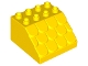 Part No: 18814  Name: Duplo, Brick 4 x 4 x 2 Slope Shingled