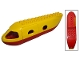 Part No: 2150c03  Name: Duplo Airplane Jetliner Fuselage with Red Base and Cargo Door