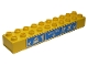 Part No: 2291pb03  Name: Duplo, Brick 2 x 10 with Legoville, Train, and Airport Pattern