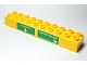 Part No: 2291pb04  Name: Duplo, Brick 2 x 10 with 'Truckville' and 'Radiator Springs' Pattern