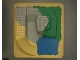 Part No: 2295  Name: Duplo, Baseplate Raised 24 x 24 Four Level with Lake (Zoo Sets)