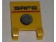 Part No: 2335pb060  Name: Flag 2 x 2 Square with 'SAFE' and Dial Pattern (Sticker) - Set 5971