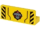 Part No: 23950pb001  Name: Panel 1 x 3 x 1 with Hammerhead Shark Head and Black Danger Stripes on Transparent Background Pattern (Sticker) - Set 60266