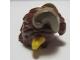 Part No: 24071pb01  Name: Minifigure, Hair Faun with Ears, Reddish Brown Hair and Dark Tan Horns Pattern
