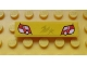 Part No: 2431pb286  Name: Tile 1 x 4 with Red and White Taillights on Yellow Background Pattern (Sticker) - Set 8134