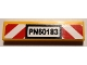 Part No: 2431pb649  Name: Tile 1 x 4 with 'PN60183' License Plate and Red and White Danger Stripes Pattern (Sticker) - Set 60183