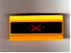 Part No: 2440pb001  Name: Hinge Panel 6 x 3 with Red and Yellow Extreme Team Logo Pattern (Sticker) - Sets 2963 / 6568 / 6589