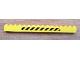 Part No: 2465pb04  Name: Brick 1 x 16 with Black and Yellow Danger Stripes Pattern (Sticker) - Set 7243