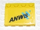 Part No: 2513pb08  Name: Vehicle, Mudguard 3 x 4 Slope with 'ANWB' and Blue Logo Pattern (Sticker) - Set 2140