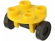 Part No: 2655c02  Name: Plate, Round 2 x 2 Thin with Wheel Holder with Black Wheel Skateboard / Trolley (2655 / 2496)