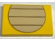 Part No: 26603pb143  Name: Tile 2 x 3 with Tan Partial Circle with Dark Tan Lines Pattern (Larry)