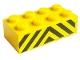 Part No: 3001pb014  Name: Brick 2 x 4 with Black and Yellow Danger Stripes Pattern (Sticker) - Set 7743