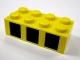 Part No: 3001pb079  Name: Brick 2 x 4 with 3 Black Squares Pattern