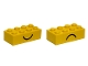 Part No: 3001pe1  Name: Brick 2 x 4 with Smile and Frown Pattern on Opposite Sides