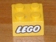 Part No: 3003px3  Name: Brick 2 x 2 with Lego Logo Closed O Style White with Black Outline Pattern