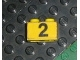 Part No: 3004pb002  Name: Brick 1 x 2 with Black '2' on Yellow Background Pattern (Sticker) - Set 374-1