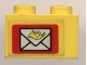 Part No: 3004pb023  Name: Brick 1 x 2 with Mail Envelope Pattern (Sticker) - Set 6362
