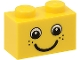 Part No: 3004pb085  Name: Brick 1 x 2 with Eyes and Freckles and Smile Pattern