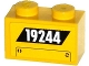 Part No: 3004pb129  Name: Brick 1 x 2 with '19244' and Hatch Pattern (Sticker) - Set 60076
