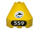 Part No: 30079pb03  Name: Panel 3 x 3 x 3 Corner Convex (Divers) with Dolphin and Number 559 Pattern (Stickers)