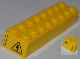 Part No: 3007pb06  Name: Brick 2 x 8 with 'CITY' on One End, Electricity Danger Sign on Other End Pattern (Stickers) - Set 4203