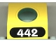 Part No: 30080c01pb01  Name: Panel 4 x 3 x 3 with Porthole (Divers) with White '442' in Black Oval Pattern (Sticker) - Set 6442