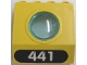 Part No: 30080c01pb04  Name: Panel 4 x 3 x 3 with Porthole (Divers) with White '441' in Black Oval Pattern (Sticker) - Set 6441