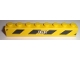 Part No: 3008pb106R  Name: Brick 1 x 8 with White '7631' and Black and Yellow Danger Stripes Pattern Model Right (Sticker) - Set 7631