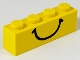 Part No: 3010p01  Name: Brick 1 x 4 with Smile Pattern