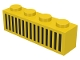 Part No: 3010p04  Name: Brick 1 x 4 with Black Grille with 15 Lines Pattern