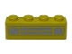Part No: 3010pb035s  Name: Brick 1 x 4 with Car Grille Chrome Pattern (Surface Print)