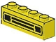 Part No: 3010pb036u  Name: Brick 1 x 4 with Car Grille Black Pattern (Undetermined Type)