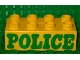 Part No: 3011pb008  Name: Duplo, Brick 2 x 4 with 'POLICE' Pattern