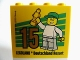 Part No: 30144pb168  Name: Brick 2 x 4 x 3 with Besuchsmeister 15 Gold 2015 Legoland Deutschland Resort Pattern