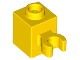Part No: 30241b  Name: Brick, Modified 1 x 1 with Open O Clip (Vertical Grip) - Hollow Stud