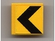 Part No: 30258pb011  Name: Road Sign 2 x 2 Square with Clip with Black Chevron Pattern (Sticker) - Set 8364