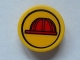 Part No: 30261pb009  Name: Road Sign 2 x 2 Round with Clip with Red Construction Helmet Pattern (Sticker) - Set 7243