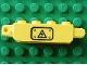 Part No: 30387pb001La  Name: Hinge Brick 1 x 4 Locking with Black Electricity Danger Sign on Clear Background Pattern Model Left Side (Sticker) - Set 7248