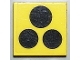 Part No: 3068bp65  Name: Tile 2 x 2 with Groove with Black Stove Top 3 Burner Pattern (Sticker) - Sets 6365 / 6372 / 6374