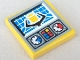 Part No: 3068bpb0072  Name: Tile 2 x 2 with Groove with Gauges and Crane Grab Pattern (Sticker) - Set 8250