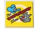 Part No: 3068bpb0700  Name: Tile 2 x 2 with Groove with 'The ITCHY & SCRATCHY Show' Pattern (71202)