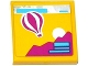 Part No: 3068bpb0916  Name: Tile 2 x 2 with Groove with Hot Air Balloon, Mountain and Sun Pattern (Sticker) - Set 41093