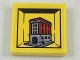 Part No: 3068bpb1122  Name: Tile 2 x 2 with Groove with Miniature Set 75827 Firehouse Headquarters Pattern (Sticker) - Set 40178