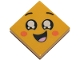 Part No: 3068bpb1199  Name: Tile 2 x 2 with Groove with Face, Smile Open Mouth, Black Eyes with White Pupils, Raised Eyebrows, Orange Cheeks Pattern