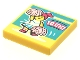 Part No: 3068bpb1625  Name: Tile 2 x 2 with Groove with BeatBit Album Cover - Cheerleader Pattern